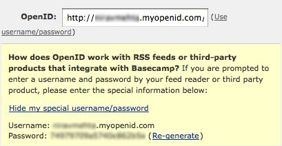 Special Username / Password for OpenID