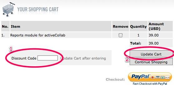 Enter the discount code
