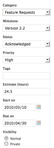 Edit Estimate and Start Date