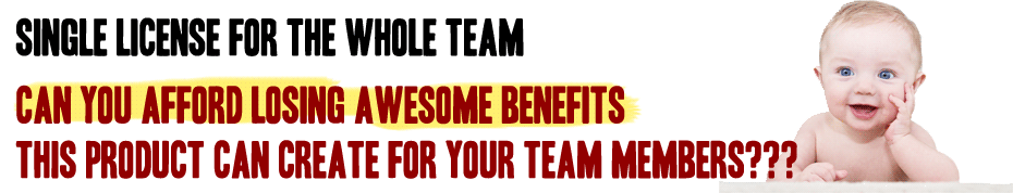 Can you afford to miss the awesome benefits this product can create for your team members?