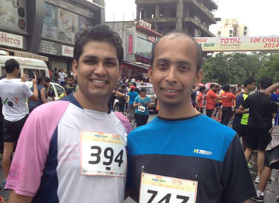 After a 10k run with Nirav