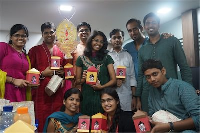 Diwali celebrations in office
